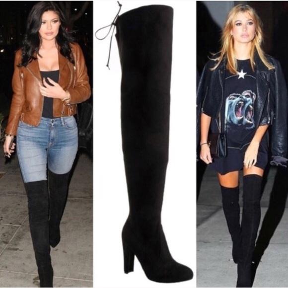 """53e22bd9735 🌟BEST SELLER🌟30"""" Thigh High Boots black"""